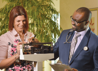 Healthy Directions featuring Dr. Seun Sowemimo and Gail Zapata; bariatric surgery at Prime Surgicare, Monmouth County, New Jersey